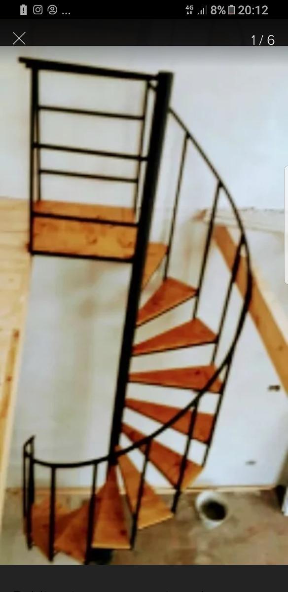 Escaleras Caracol Hierro Y Madera Interior Y