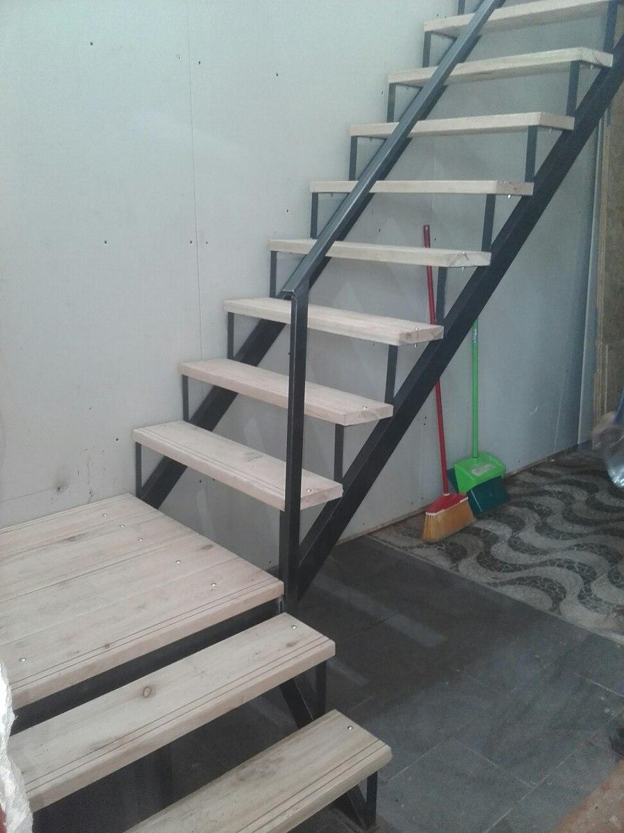 Escaleras hierro y madera 3900mt en mercado libre - Escalera madera ...