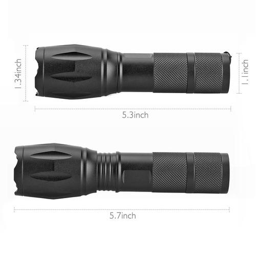 escolite uv flashlight black light, led 395 nm detector d