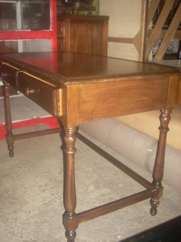 escritorio 2 cajones en madera de pino ,lustre claro impecab