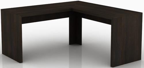 escritorio amoblamiento oficina en l 157x157 mesa pc me4116