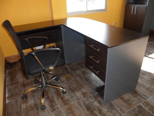 escritorio en l esquinero en mdf melaminico