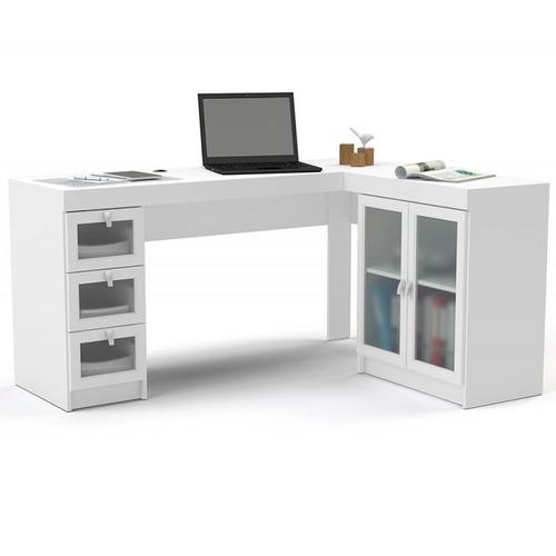 escritorio esquinero puertas y cajones con vidrio españa ch