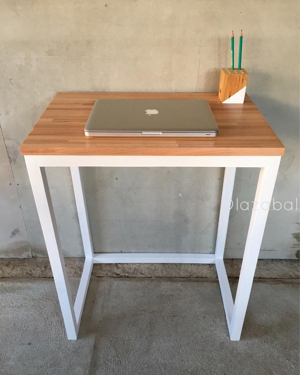 Escritorio madera finger hierro para espacios reducidos - Escritorios para espacios reducidos ...