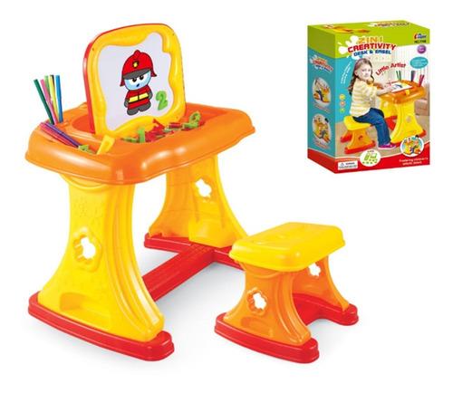 escritorio tablero de dibujo 2 en 1 niños + letras + drypens