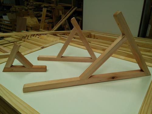 escuadra o mensula de madera para aleros