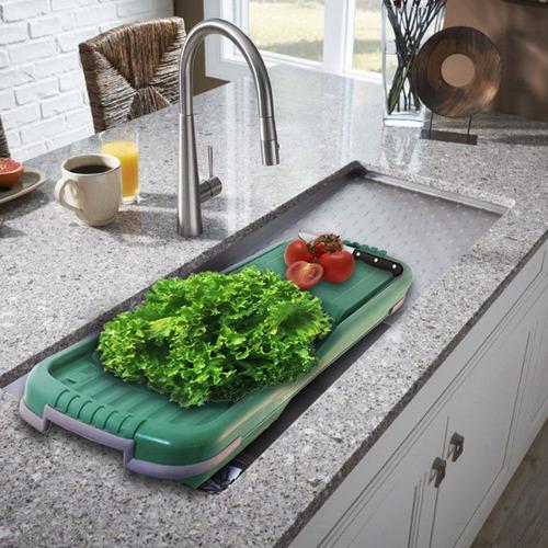 escurridor tabla de picar verduras vegetales frutas lechuga