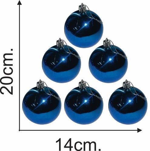 esferas metalizadas lisas x 6 unidades / adorno navidad - el