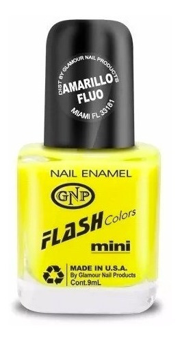 esmalte flash colors de gnp 9ml amarillo fluo summer