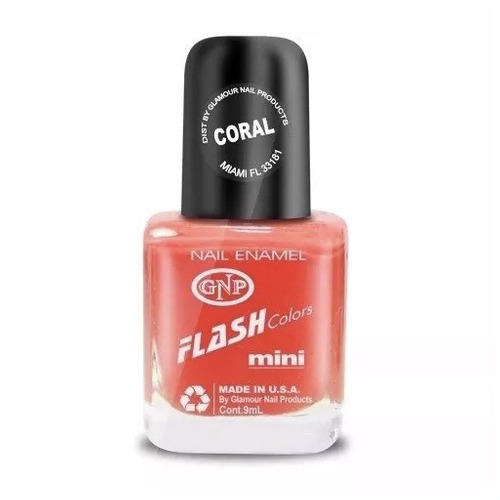 esmalte flash colors de gnp 9ml coral