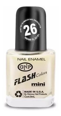 esmalte flash colors de gnp 9ml nro.26 lactea con nacar!