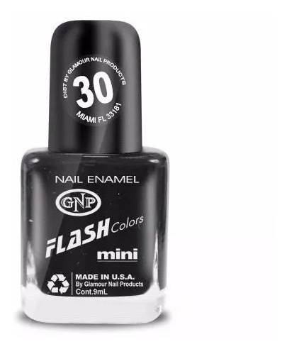 esmalte flash colors de gnp 9ml nro.30 negro