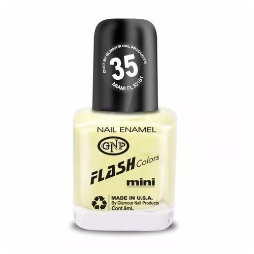 esmalte flash colors de gnp 9ml nro.35 amarillo patito