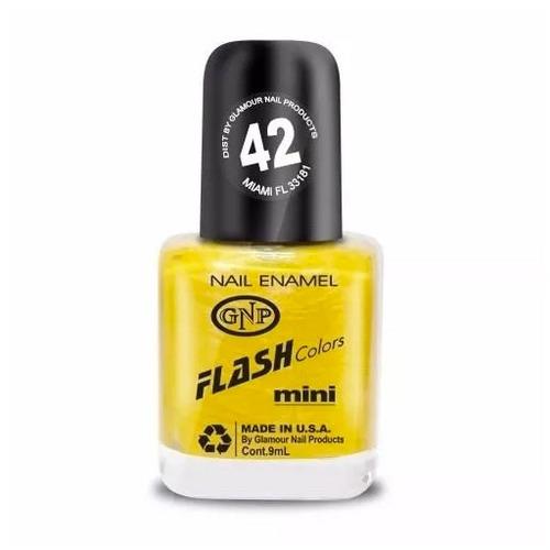 esmalte flash colors de gnp 9ml nro.42 amarillo nacar