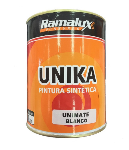 esmalte sintético unimate ramalux blanco mate 1 lt