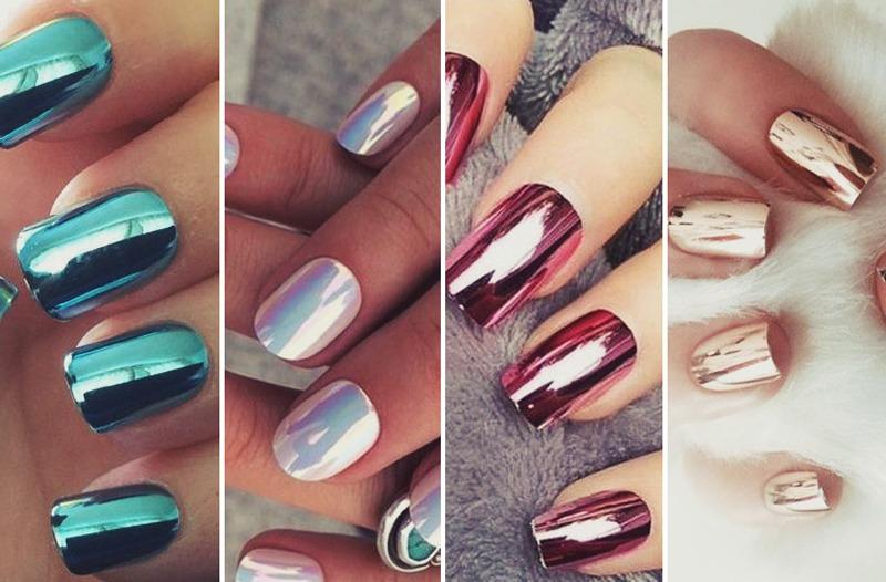 Esmaltes Efecto Espejo Metalizados Nails Art