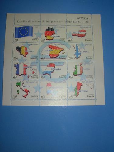 espana - hojita filatelica sellos - zona euro - 1999