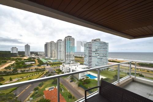 espectacular apartamento de 2 dormitorios en venta. edificio vista brava, equipado!, playa brava punta del este. - ref: 7274