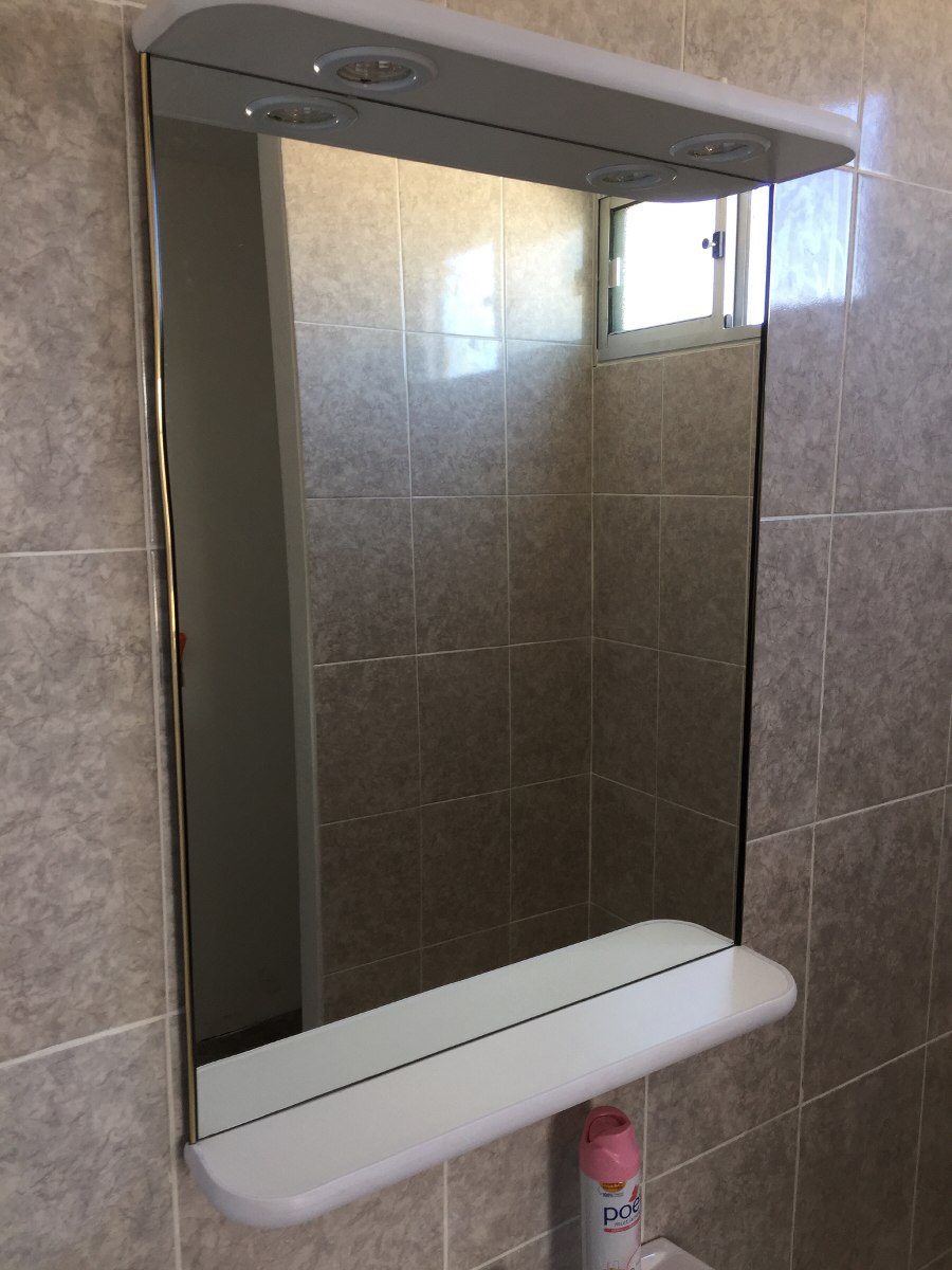 Espejo grande con luces para ba o living o dormitorio - Lamparas para espejos de bano ...