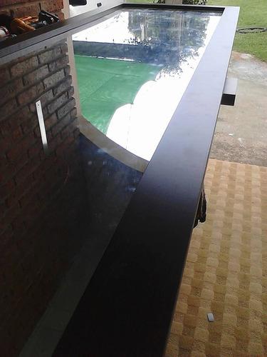 espejo grande marco en melaminico en madera muebles a medida
