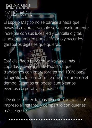 espejo mágico / cabina fotográfica c/luces led /fotoshow