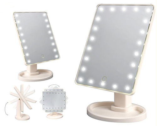 espejo maquillaje magico 16 luces leds 360º  22x16cms oferta