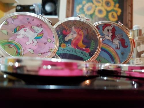 espejo redondo unicornio!!