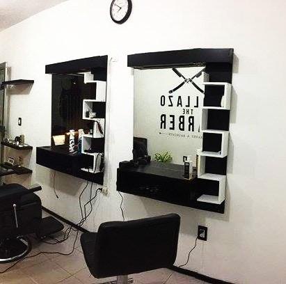Espejos moderno con luz peluquerias en for Disenos de espejos para peluqueria