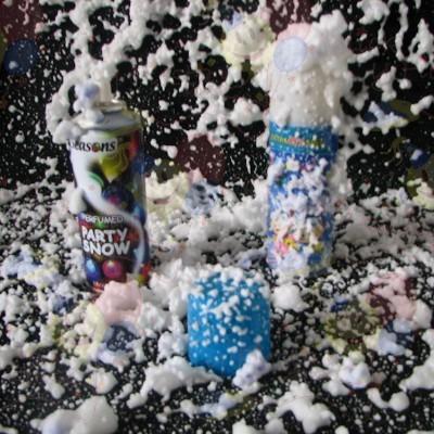 espuma nieve en spray cotillón