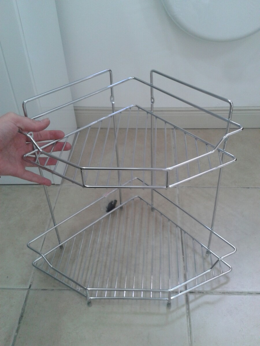 esquinero en metal 2 pisos para baño estante repisa. Cargando zoom. 06f905ac12f5
