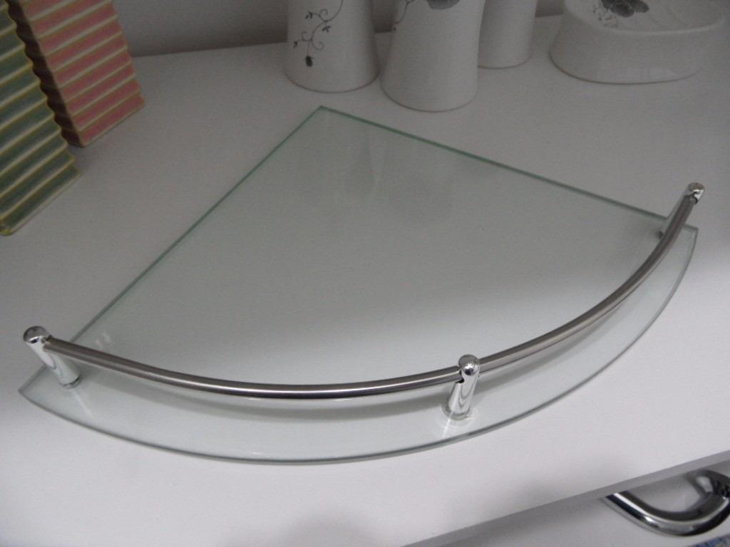 esquinero repisa de vidrio baranda en metal - accesorio baño. Cargando zoom. 53b44ab44fee