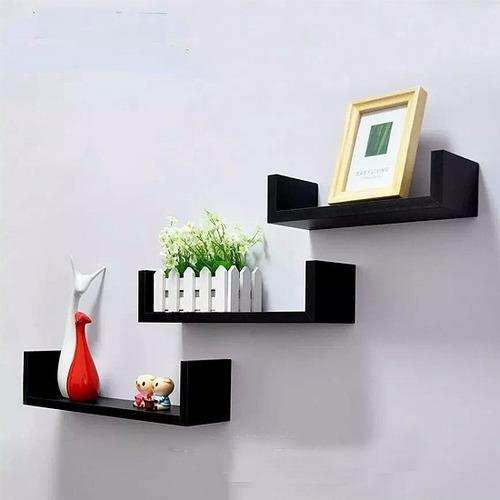 estante flotante - juego de 3 unidades - estilo minimalista