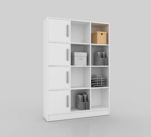 estanteria repisa biblioteca  castaño blanco mobelstore