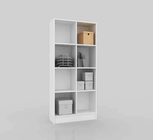 estanteria repisa biblioteca mobelstore castaño o blanco