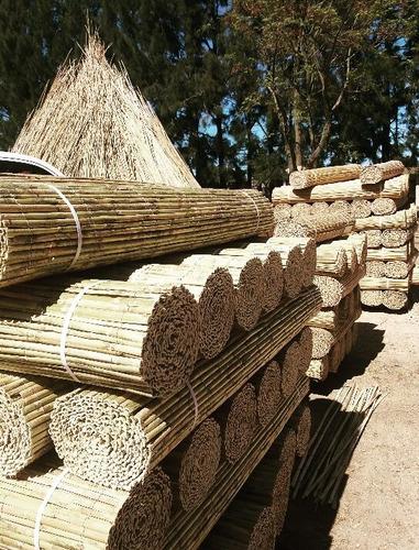 esteras caña entera media caña junco madera