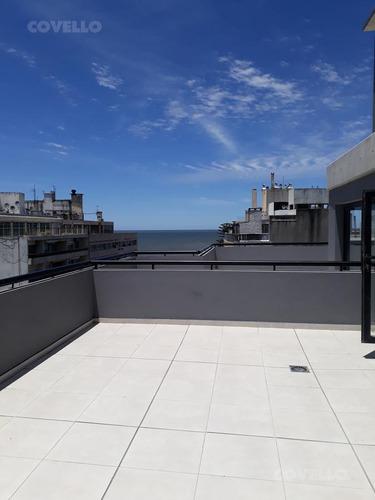 estrena ya ! próximo a rambla, monoambiente divisible al frente, vista lateral al mar, amenities.
