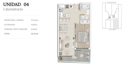 estrene apartamento de 1 dormitorio en pocitos. air tower