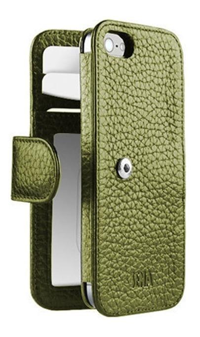 new style acee3 82700 Estuche Cuero iPhone 5 5s Wallet Book Verde Sena Ta0120