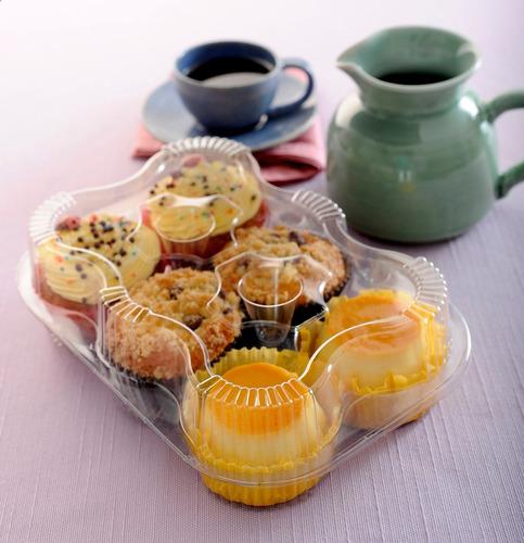 estuche - envase para 6 cupcakes 100 unidades