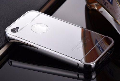 estuche espejados aluminio iphone 8 7 6 6 plus 5 se