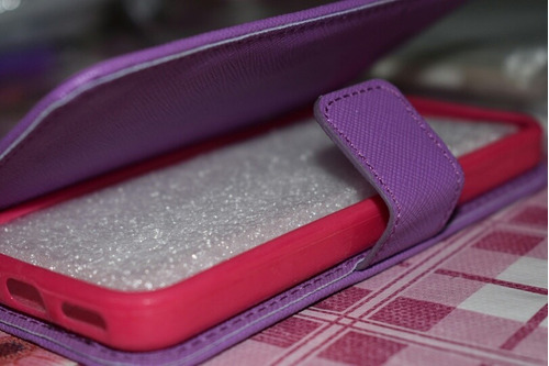 estuche para celular iphone 5s color rosado