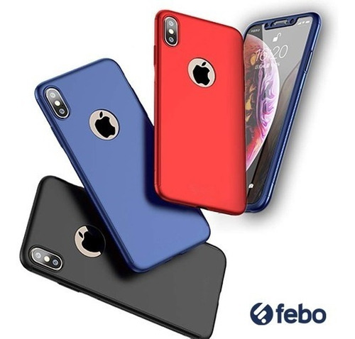 estuche protector full 360 iphone xr febo