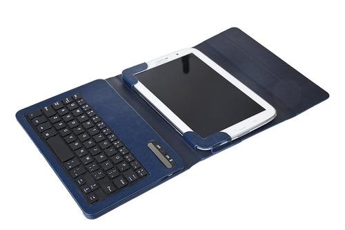 estuche teclado tablet e-stand folding leather protect