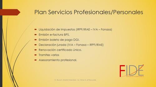 estudio contable - certificados de ingresos- dj-ss pers/prof
