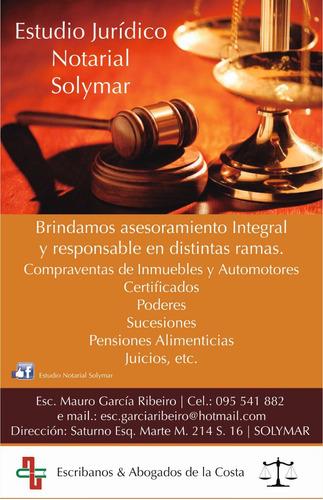 estudio jurídico notarial solymar escribano abogado sincosto