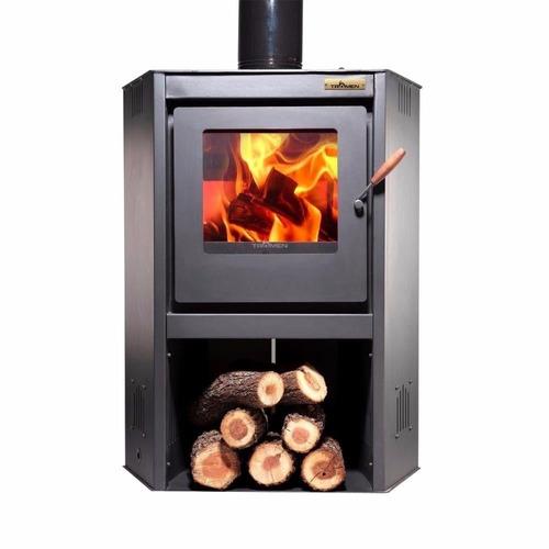 estufa calefactor a leña tromen prisma esquinero 60 a 100m2