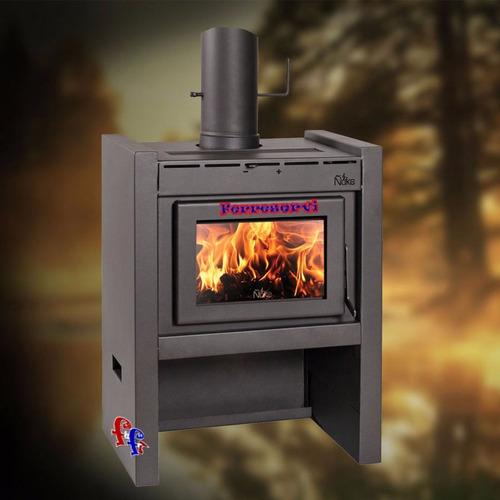 estufa calefactor salamandra ñuke a leña mod lapacho 50