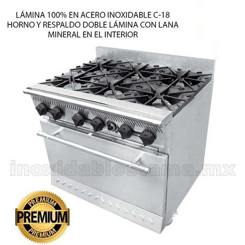 estufas premium con horno acero inoxidable 6 quemadores