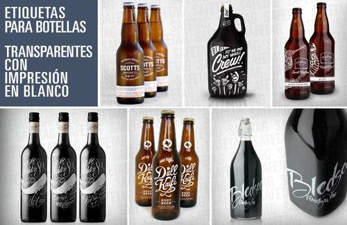 etiquetas autoadhesivas frascos botellas vasos personalizada
