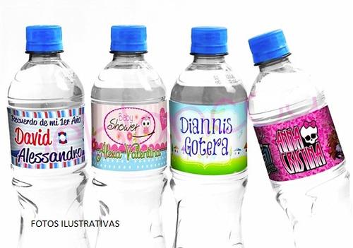 etiquetas pegotines botellas coca, personalizadas 10 x $80